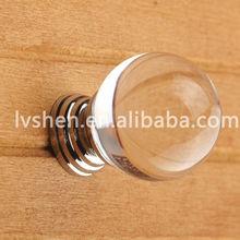 Diamond crystal knobs for door decoration, Glass furniture handles
