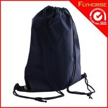 Wholesale Custom Made Printing Black Cotton Fabric Drawstring Bag