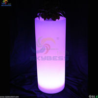 Decorative Plastic LED Light Flower Pot/ LED Garden Plant Pot