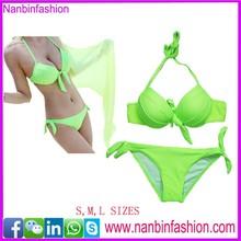 nanbinfashion green women sexi open bikini