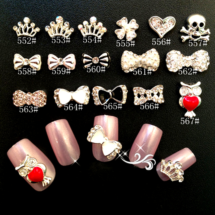 Wholesale Alloy Nail Jewelry Supplies 3d Nail Art Charms 1123 Buy
