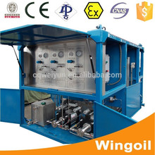 Skid Mounted Oil and Gas Wellhead Cylinder Pipe Hydraulic Pressure Testing Equipment