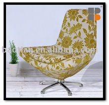 Colorful fabric modern living room swivel chair #0375