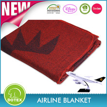 BSCI and SEDEX Certificated Modacrylic Flame Retardant Woven embossed Airline Blanket