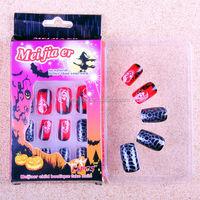 nail art halloween designs/wholesale false nails