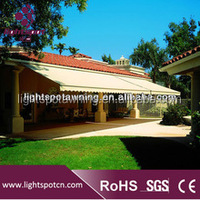 Waterproof canvas full cassette retractable roof awning