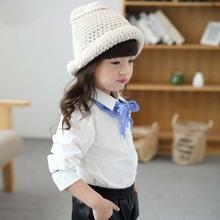 TG2001 korean style white children blouses shirts for girls