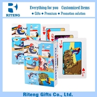 High Quality Custom Poker Advertising Plastic Playing Cards