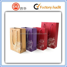 High quality cardboard paper jewelry shopping packing bag