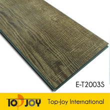 Wood like interlocking vinyl floor tiles