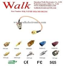 N female SMA rg316 cable/N female jumper cable/SMA male connector cable: N female straight to SMA male straight with rg316 cable