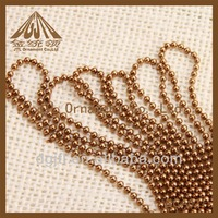 Fashion design colored bead chain for necklace