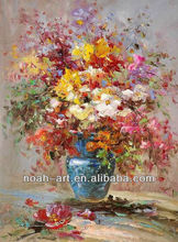 100% Handpainted Hot Selling Palette Knife Textured Flower Canvas Art