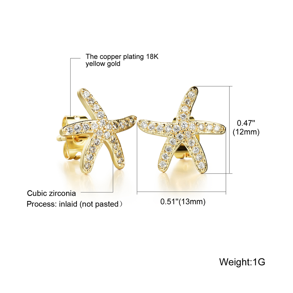New 2018 Latest Beautiful 2 Gram Gold Earrings Designs For Girl Women, Fashion Crystal Silver Stud Earrings Women Jewelry