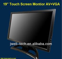 19 inch Desktop tft lcd touch screen monitor with av,vga,hdmi