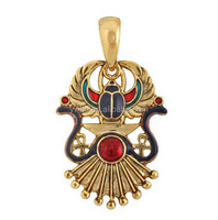 Egyptian Winged Scarab pendant jewelry accessory Egypt necklace art jewelry
