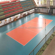 Factory direct sales cheap price pvc floor used to Volleyball court with 6mm thickness