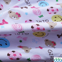 Printed baby cotton interlock knit fabric wholesale