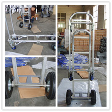 Aluminum Folding hand trolley 200bls/moving foldable hand cart