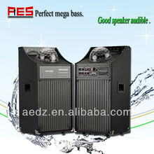 Professional stage home tower speaker big power EQ adjustment speaker with disco light