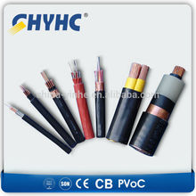600/1000V XLPE Insulated Sheathed, Steel Wire Armoured LV triplex aerial cable