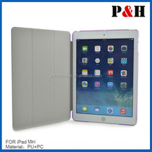 2015 PU leather tablet pc case for Ipad mini case cover