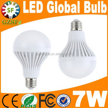 Low cost cool white 7w e27 led house bulb with plastic housing epistar led chip