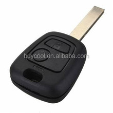 2 Buttons Remote Fob Key For Peugeot 307 With Transponder Chip ID46