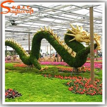 2015 manufacturer wholesale decorative glass garden green plants ornament