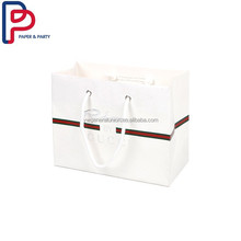 Shopping white kraft paper bag