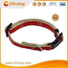 15~25cm Red Printing Martigale Nylon Dog Collar, Free Shipping on 49usd order