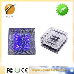 Garden colorful high reputation led solar glass brick waterproof