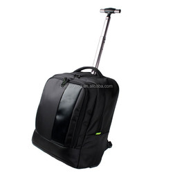 New design nylon trolley backpack, travel luggage trolley bag,wheeled travel bag
