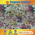 Cuero sintético zapatos calientes de la venta y bolsas textiles cuero A1772