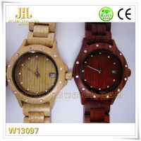 hand watch mobile phone price Fashion quartz digital wooden watch with Japan movement