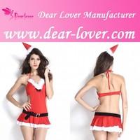 Miss Santa Red Mature Lingerie Sexy Costume Pics