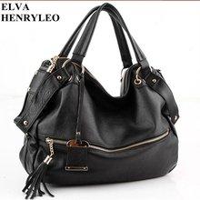 Europe style women business shoulder bag,Cow leather lady black handbag