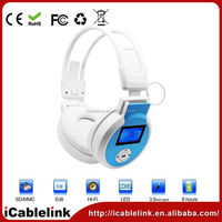 New Wireless Stereo Bluetooth Headphone with lcd display for Mobile Cell Phone Laptop PC Tablet