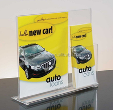 A4 and A5 postcard flyer holder with a poster stand and a business card holder