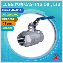 2000 to 3000 psi two pcs float tfm 1600 stainless steel ball valve