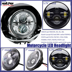 """For Harley 7"""" 40W Round Projector H4 Headlight Motorcycle LED Headlight"""