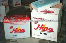 40AH High Quality Dry Charged Car Battery