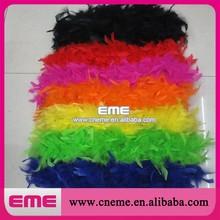 Wholesale colorful turkey feather boa Chandelle feather boa