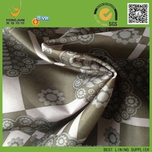 100% polyester taffeta check and small flower print lining fabric best handfeel