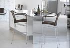 BC-(54) modern rattan cadeira alta para cozinha
