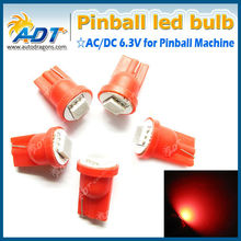 Red color super bright 6.3v 1 *5050smd led pinball bulb-easy to install