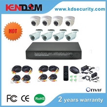 700/800/1000TVL 960h dvr 8ch kit dome camera and bullet camera 8 channel dvr kit cheap cctv camera kit