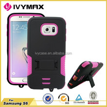 IVYMAX best selling 2015 injection plastic products triple defender case for samsung s6
