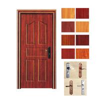 china dark red steel interior door maker