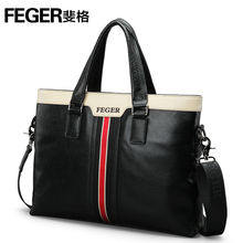 Feger Hot Sale Cow Leather Fashion Business Bag Men's Briefcase Hanbagsmen's briefcase handbag